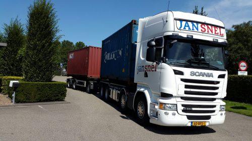 Containervervoer fleetmangementsysteem
