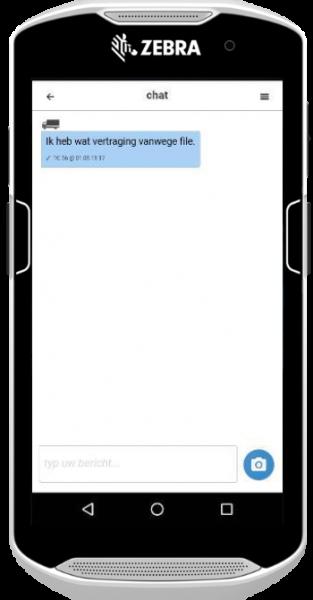 Berichten versturen via MobiScout Mobile